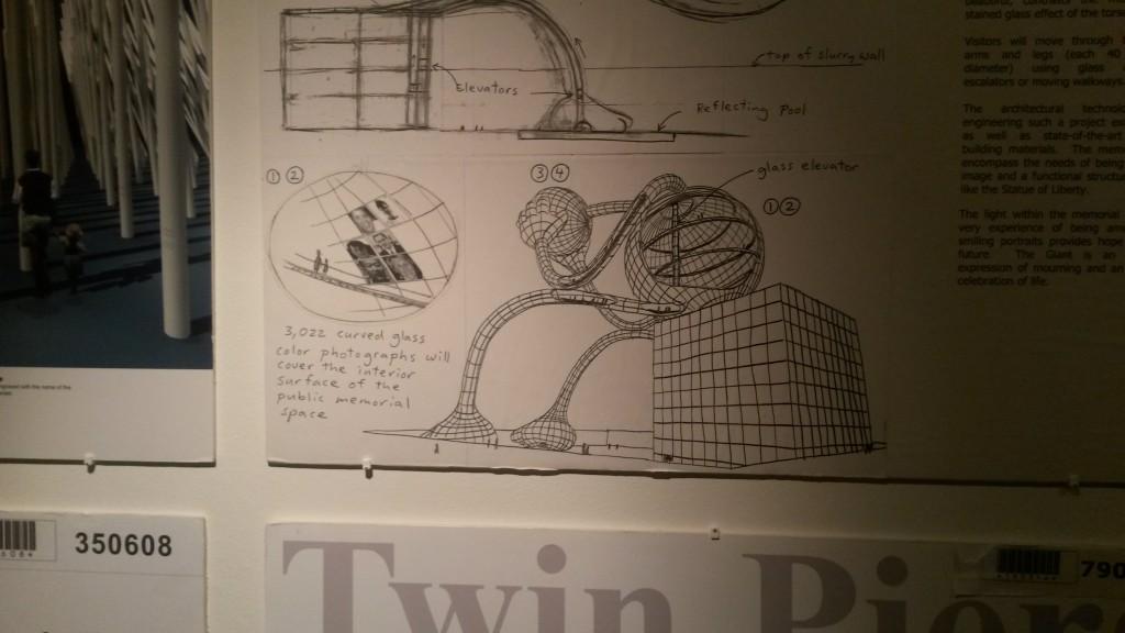 Skitse til forslag til 9/11-museum i New York