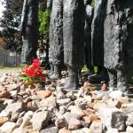 Jødisk gravplads skulptur blomst Gr Hamburgerstrasse